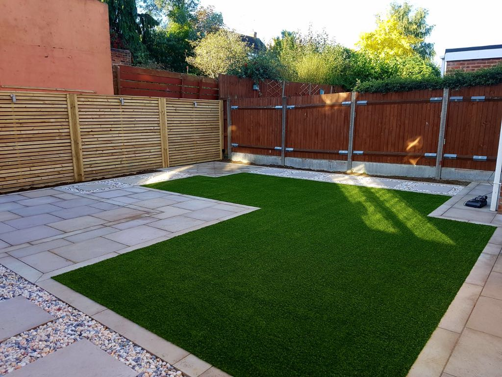 Artificial grass installation and landscaping Bedford