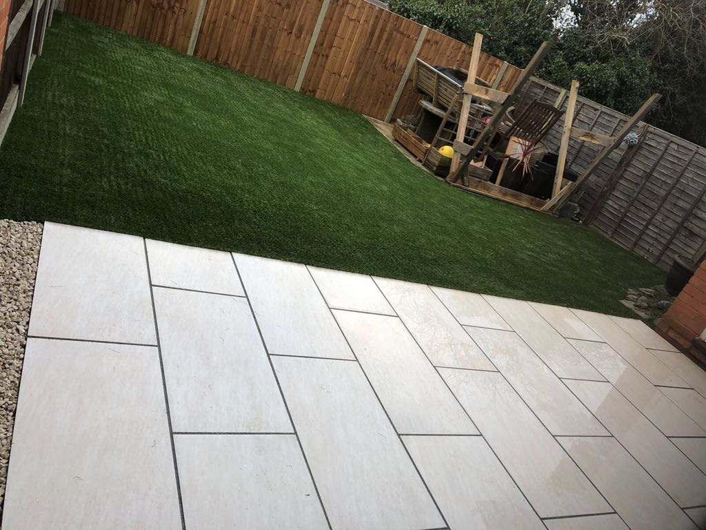 Modern artificial grass installation Bedford