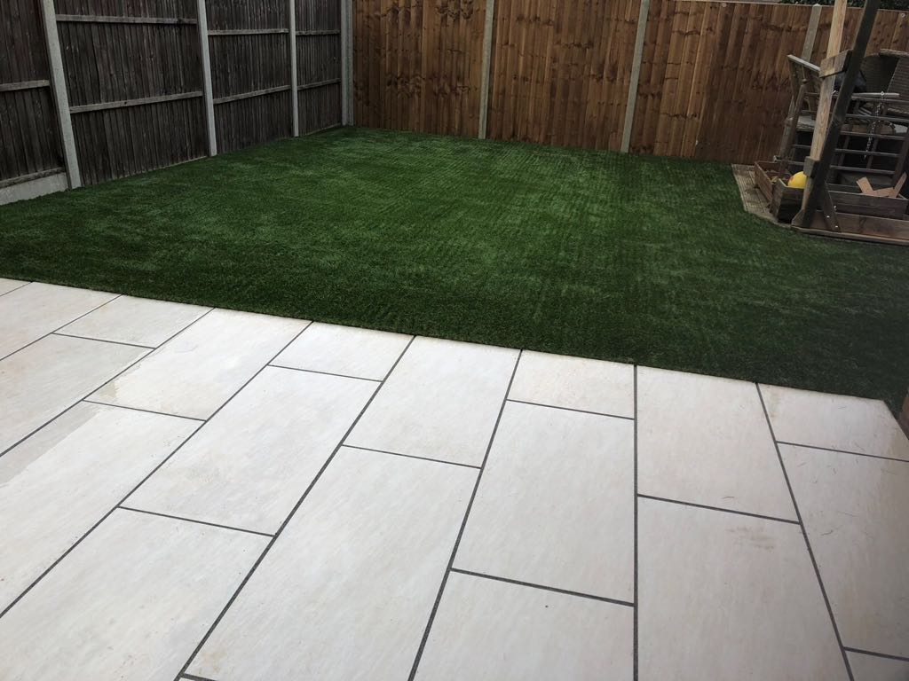 Artificial grass and paving | Biddenham