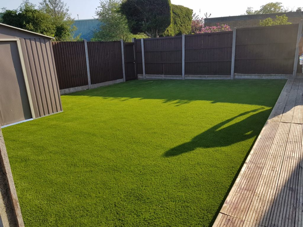 Artificial grass and decking Bedford