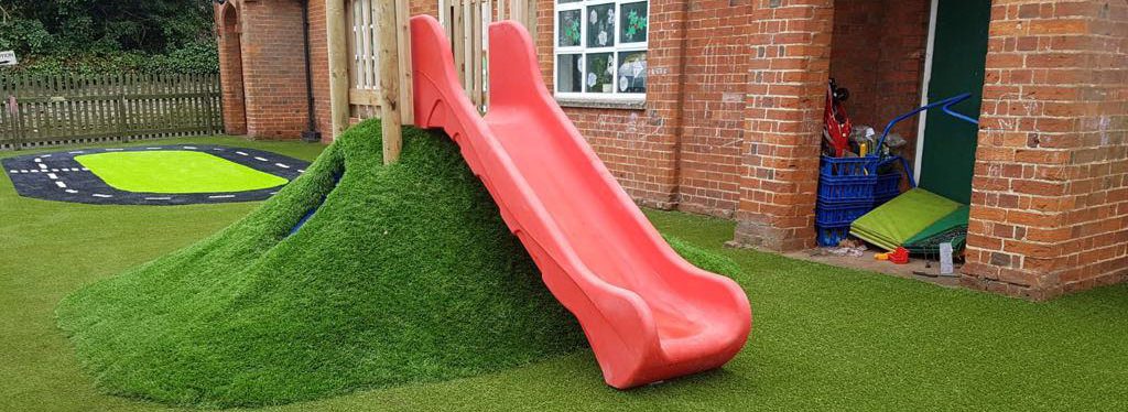 Artificial grass for nurseries