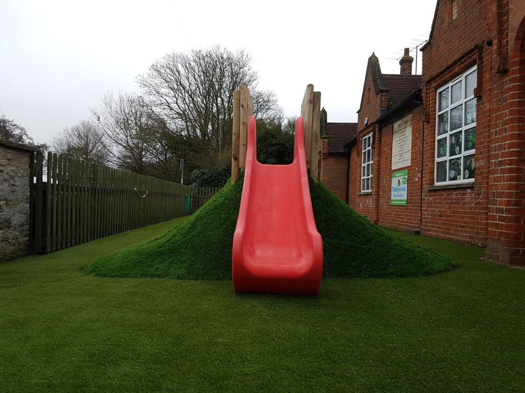 Artificial grass for nurseries