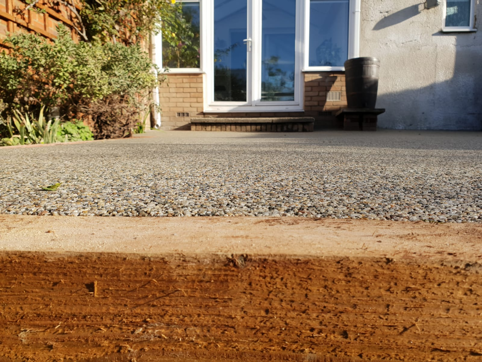 Resin bound patio